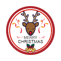 Christmas Elk Make Custom Patches