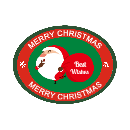 Merry Christmas Oval Custom Patch