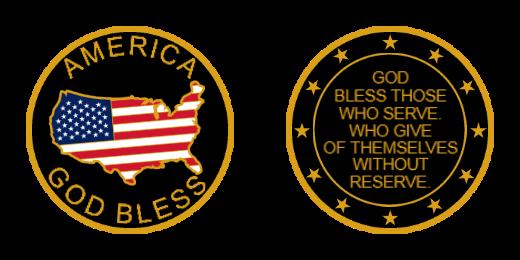 God Bless Challenge Coins Custom