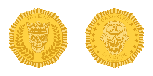 The King Custom Military Challenge Coins