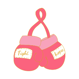 Breast Cancer Boxing Glove Enamel Pins