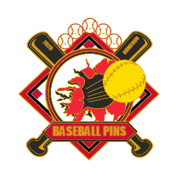 Flame Baseball Custom Trading Pins