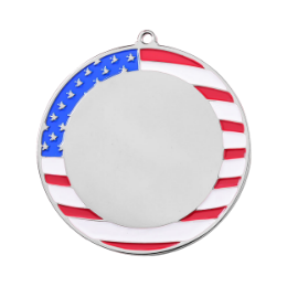 Shinny Silver Round Blank Medals