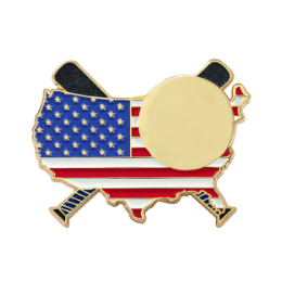 Flag Gold Blank Trading Pins