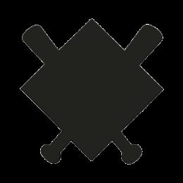 Black Blank Baseball Pins