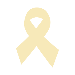 Gold Ribbon Blank Template Lapel Pins