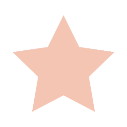 Rose Gold Star Blank Template Lapel Pins
