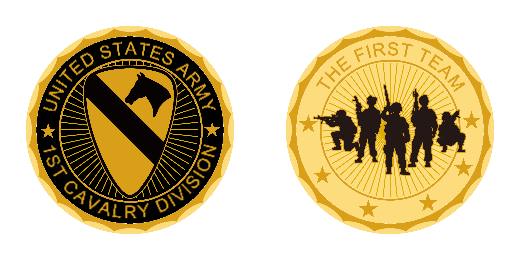 The First Team Amry Challenge Coins