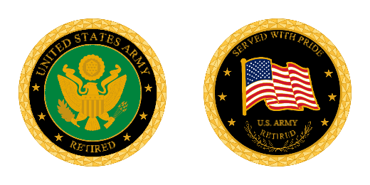 Army Retired Challenge Coins