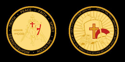 Armor of God Custom Challenge Coins