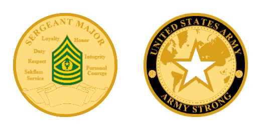 Army Strong Custom coins