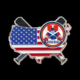 USA Flag Custom Trading Pins