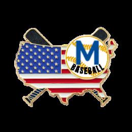 America M CustomBaseballTradingPins