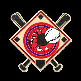 Fire Baseball Custom Baseball Pins