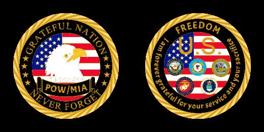 Grateful Nation Custom Military Challenge Coins