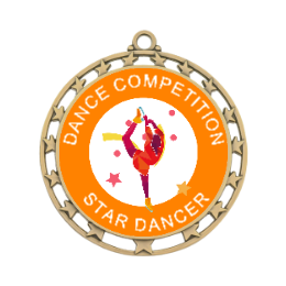 Dancing Girl Custom Made Medals