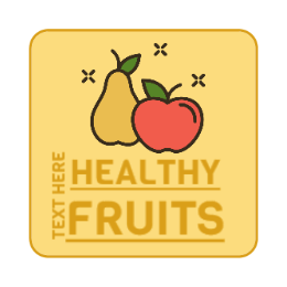 Healthy Fruits Square Custom Pins