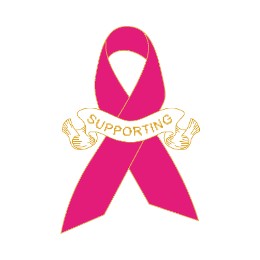 Breast Cancer Supporting Ribbon Enamel Pins
