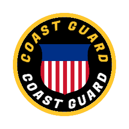 Coast Guard Flag Custom Patches