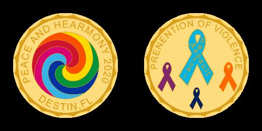 Peace and Harmony 2020 Custom coins