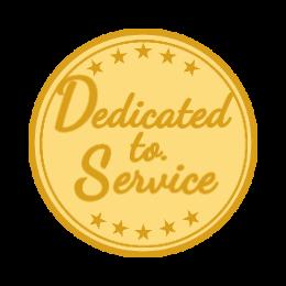 Dedicated To Service Custom Lapel Pins
