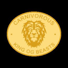 Carnivorous Lion cast belt buckles