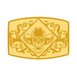 Skull Custom Brass Belt Buckles
