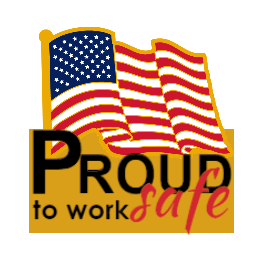 Proud to Work Safe Custom Flag Pins