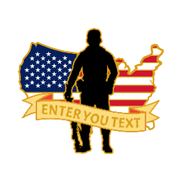 Veteran Flag Custom Lapel Pins