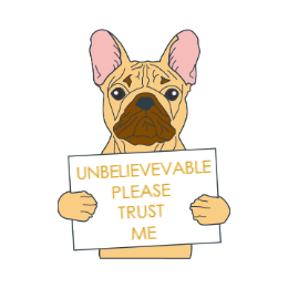 Please Trust Me Custom Bulldog Enamel Pins