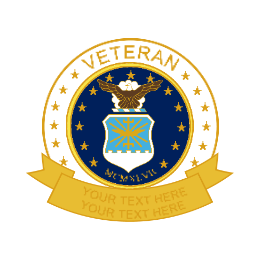 Air Force Veteran Custom Military Pins