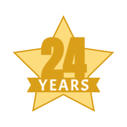 Years of Service Star Lapel Pins