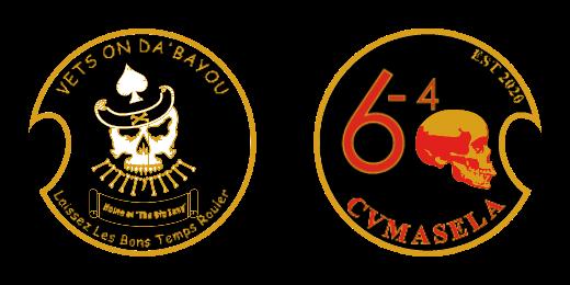 Vets On Da Bayou Custom Challenge Coins