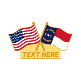 Blank Custom Crossed Flag Pins