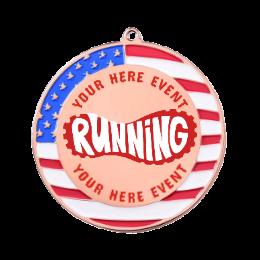 Custom Running Logo Medals