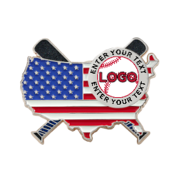 Logo Here Custom Baseball Pins