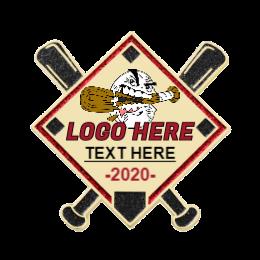 2020 Logo Here Custom Baseball Pins