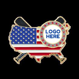 Flag Logo Here Custom Baseball Pins