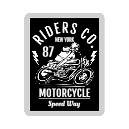 New York Motorcycle Custom Patches
