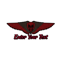 Skull Wings Custom Patches