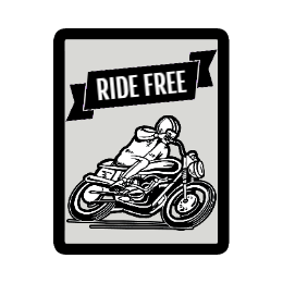 Ride Free Custom Patches