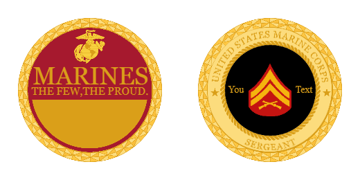 United States Marine Corps Custom Coins