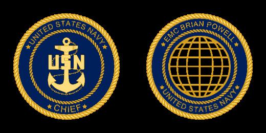 Wonderful Navy Custom Challenge Coins