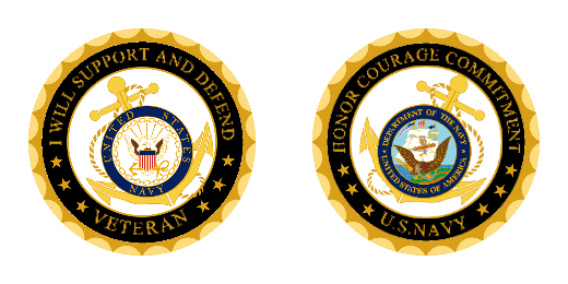 Navy Veteran Personalized Challenge Coin