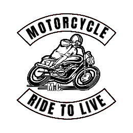 Ride To Live Motorcycle Custom Patch