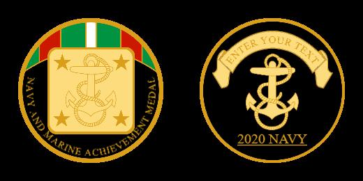 Navy And Marine Achievement Custom Challenge Coins