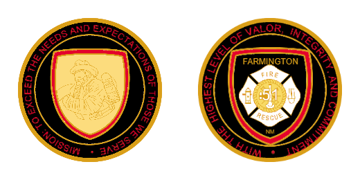 Farmington Firefighter Custom Coins
