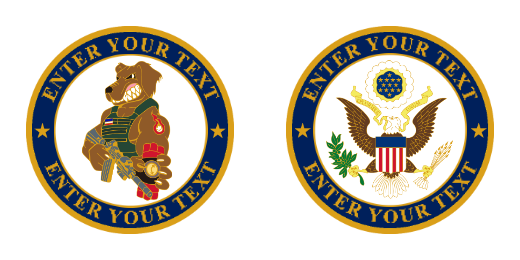 Military Eagle Custom Coins
