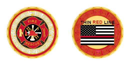 Thin Red Line Custom Challenge Coins