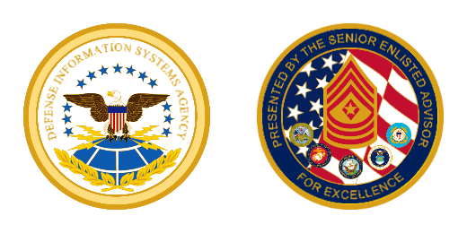 Defense Information Systems Agency Custom Challenge Coins